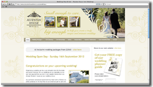 Weddings at Alveston House Hotel - WordPress Website (Design Portfolio)