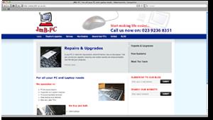 JMB PC in Waterlooville - Word Press Website (Design Portfolio)